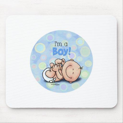 Eu sou um MENINO - bebê novo Mousepads