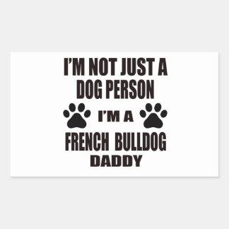 Eu sou um pai do buldogue francês adesivo retangular