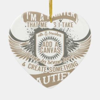 Eu sou um pintor ornamento de cerâmica coração