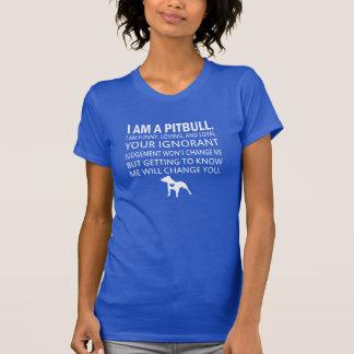 Eu sou um pitbull tshirts