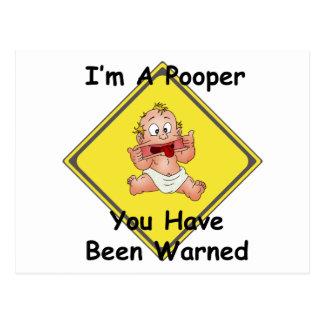 Eu sou um presente do bebê de Pooper Cartoes Postais