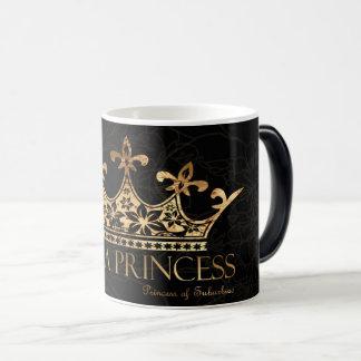 Eu sou um preto da princesa w/Crown caneca