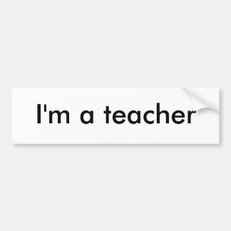 Eu sou um professor adesivo para carro