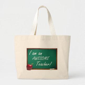 eu sou um professor impressionante sacola tote jumbo