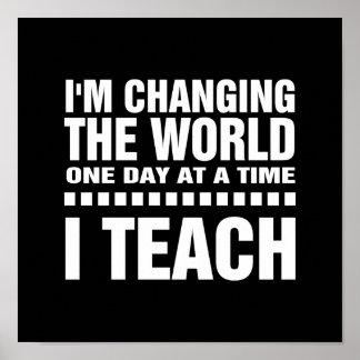 Eu sou um professor.  Poster da arte da tipografia