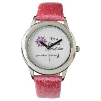 Eu sou um relógio especial do floco de neve
