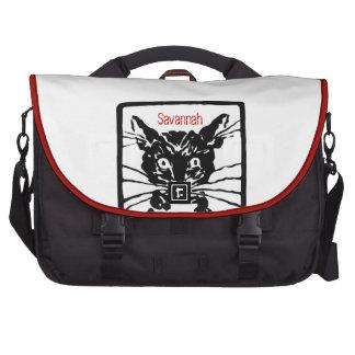 Eu sou um saco do computador do gato mala para notebook