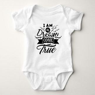 Eu sou um sonho venho camisa verdadeira do bebê do