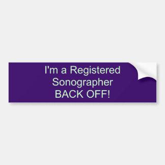 Eu sou um SonographerBACK registrado FORA! Adesivo Para Carro