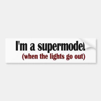 Eu sou um supermodelo adesivo para carro