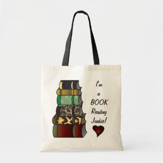 Eu sou um toxicómano da leitura do livro sacola tote budget