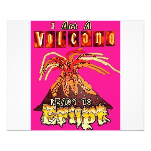 Eu sou um vulcão pronto para entrar em erupção no  panfletos
