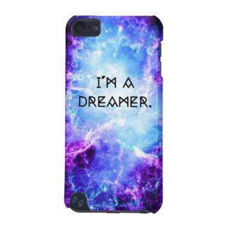 Eu sou uma capa de ipod azul roxa da galáxia 5G do