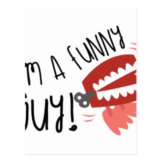 Eu sou uma cara engraçada! cartão postal