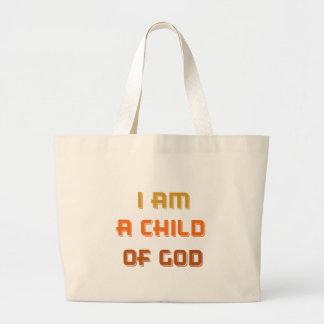 Eu sou uma criança do deus bolsa tote grande