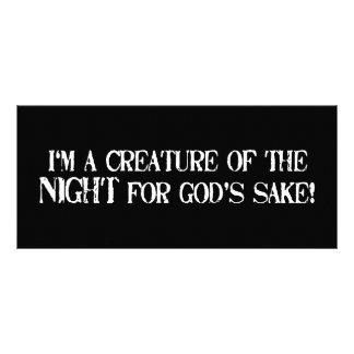 Eu sou uma criatura da noite para a causa dos deus 10.16 x 22.86cm panfleto