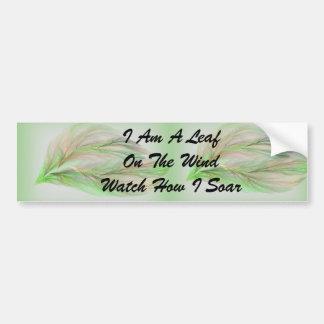 Eu sou uma folha no autocolante no vidro traseiro  adesivo para carro