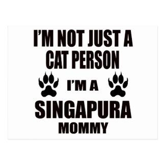 Eu sou uma mamãe de Singapura Cartão Postal