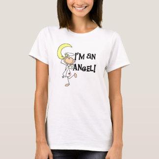 Eu sou uma parte superior dos espaguetes do anjo camiseta
