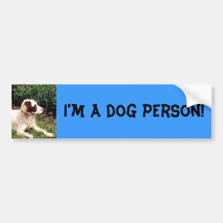 Eu sou uma pessoa do cão! autocolante no vidro tra adesivo para carro