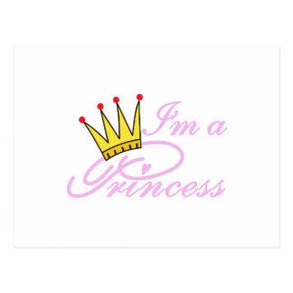 Eu sou uma princesa cartão postal