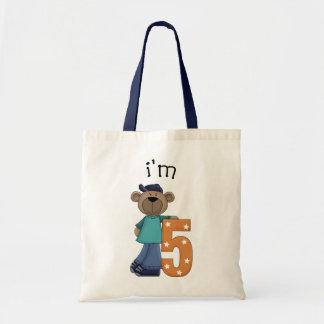 Eu sou urso de 5 aniversários bolsa para compras
