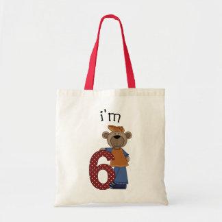 Eu sou urso de 6 aniversários bolsas para compras
