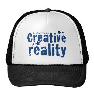 Eu subscrevo à realidade criativa bonés