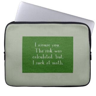 Eu sugo na matemática bolsa e capa de notebook