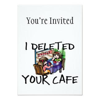 Eu suprimi de seu café convite personalizado