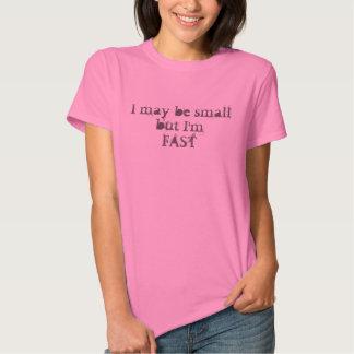 Eu talvez pequeno mas eu é camisa rápida dos camisetas