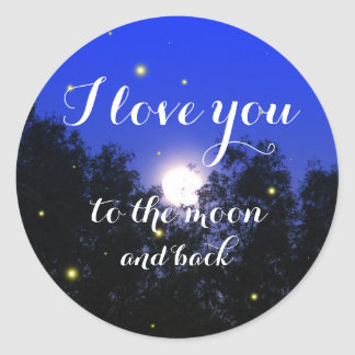 Eu te amo à etiqueta do inseto do fulgor da lua e