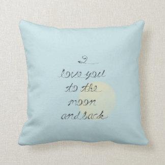 Eu te amo à lua e à parte traseira travesseiros de decoração