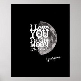 Eu te amo à lua e à parte traseira poster