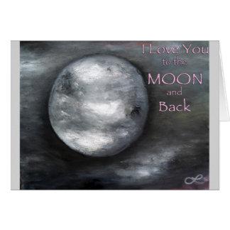 Eu te amo à lua e ao cartão traseiro