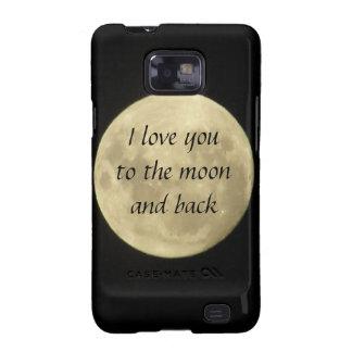 Eu te amo à lua e ao exemplo traseiro de SamsungGa Capa Para Samsung Galaxy S2