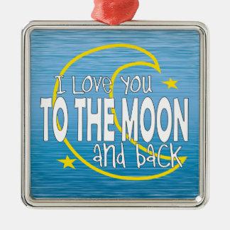 Eu te amo à lua e ao ornamento traseiro