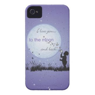 Eu te amo à lua e aos presentes Para Capinha iPhone 4