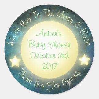 Eu te amo à lua e às etiquetas traseiras do bebê