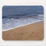 Eu te amo… amor da praia mousepad