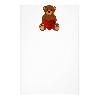 Eu te amo artigos de papelaria do urso