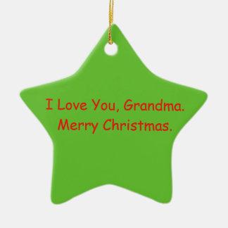 """""""Eu te amo, avó. O ornamento do Feliz Natal"""