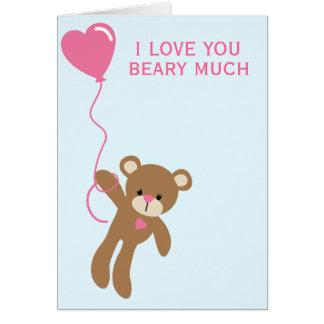 Eu te amo beary muito - cartão