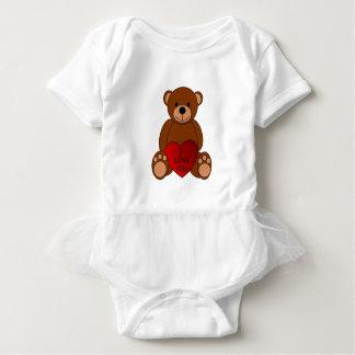 Eu te amo Bodysuit do bebê do urso Body Para Bebê
