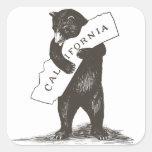 Eu te amo Califórnia Adesivos Quadrados