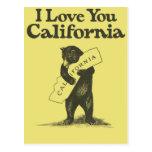 Eu te amo Califórnia Cartões Postais