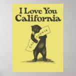 Eu te amo Califórnia Impressão