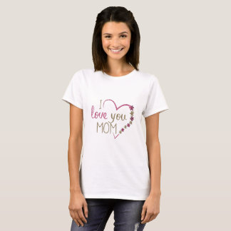 Eu te amo camisa bonito da mamã