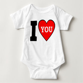 Eu te amo camisa do bebê T