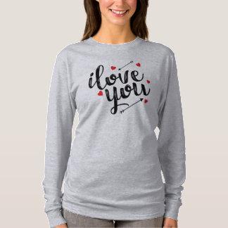 Eu te amo camisa simples da luva dos namorados